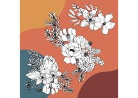 花束鲜花线艺术热带更加开花的植物_7754013