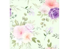 美丽的手绘花卉无缝模式_13254062