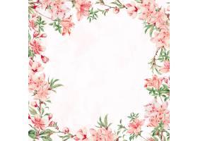 葡萄酒日本花卉框架矢量桃花艺术打印从艺_17433117