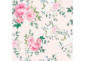 美丽的花卉和留下无缝模式_11544952