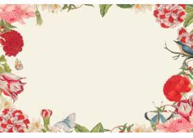 葡萄酒花卉框架传染媒介从18世纪的艺术品_16257369