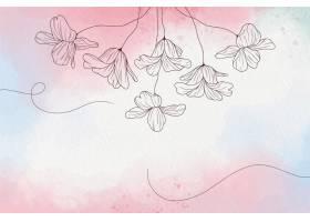 柔软的柔和墙纸与鲜花_10987663