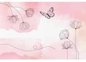 柔软的柔和墙纸与鲜花_10987669