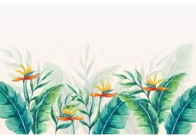 热带壁画壁纸叶和花_10126758