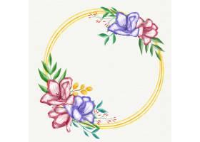 画美丽的花卉框架_15695186