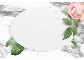 空白的花卉卵形框架传染媒介_16175325