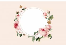 空白的花卉圆的框架传染媒介_16175367