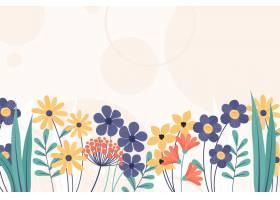 手绘花卉春天壁纸_12101993