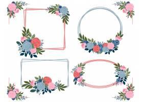 手绘花卉框架集合_13398379