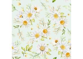 手绘水彩花卉无缝模式_16701860