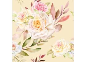 手绘水彩花卉无缝模式_16725022