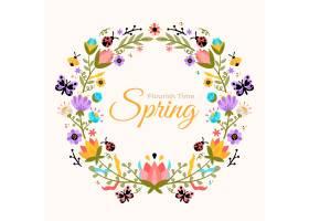 平的美丽的春天花卉框架_12151074