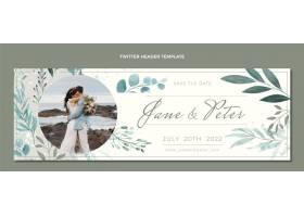 水彩手绘婚礼Twitter标题_16960356