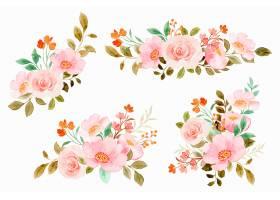 水彩粉红色花束系列_17272240