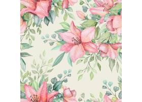 水彩花卉无缝模式_10681391