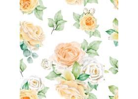 水彩花卉无缝模式_13677607