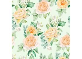 水彩花卉无缝模式_13677613
