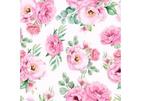 水彩花卉无缝模式_13677628