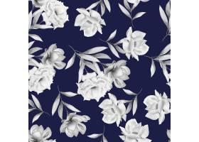 水彩花卉无缝模式_14400359