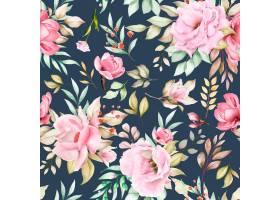 水彩花卉无缝模式_14400362