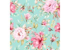 水彩花卉无缝模式_14400364