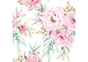 水彩花卉无缝模式_14400382