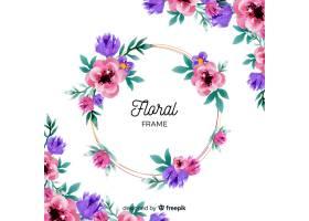 水彩花卉框架_4118003