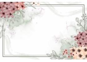水彩花卉框架背景小与白色空间_17319826