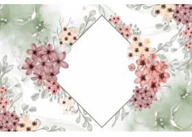 水彩花卉框架背景小与白色空间_17319886