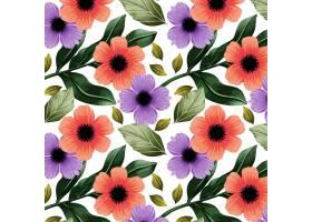 水彩花卉波西米亚模式_17540076