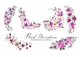 套水彩花束花和florals_14649604