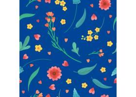 无缝模式与花朵和叶子_14098711
