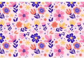 有机平面抽象花卉图案_13559414