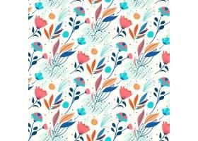 有机平面抽象花卉图案_13559423