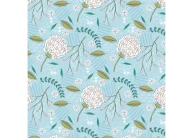 有机平面抽象花卉图案_13559426