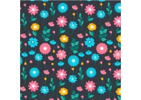 有机平面抽象花卉图案_13642520