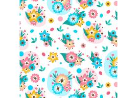 有机平面抽象花卉图案_13642531