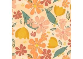 有机平面抽象花卉图案_13686037