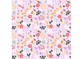 有机平面抽象花卉图案_13216229