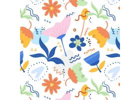 有机平面抽象花卉图案_13297126