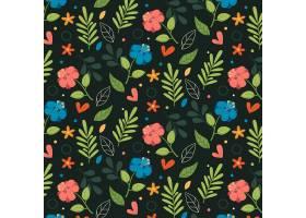 有机平面抽象花卉图案_13379008