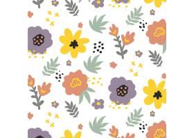 有机平面抽象花卉图案_13379014