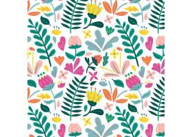 有机平面抽象花卉图案_13379018