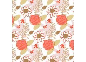 有机平面抽象花卉图案_13379020