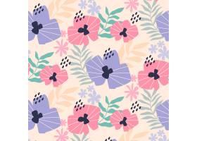 有机平面抽象花卉图案_13379037