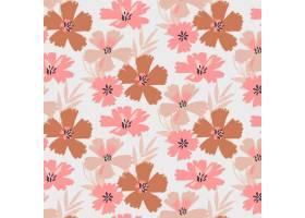 有机平面抽象花卉图案_13398297