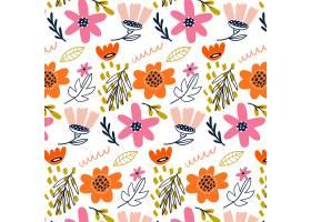有机平面抽象花卉图案_13398317