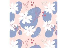有机平面抽象花卉图案_13530182