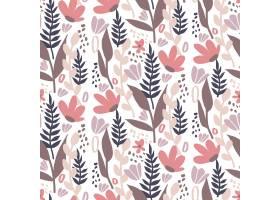 有机平面抽象花卉图案_13558866