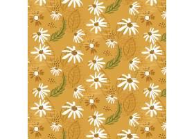 有机平面设计抽象花卉图案_13661386
